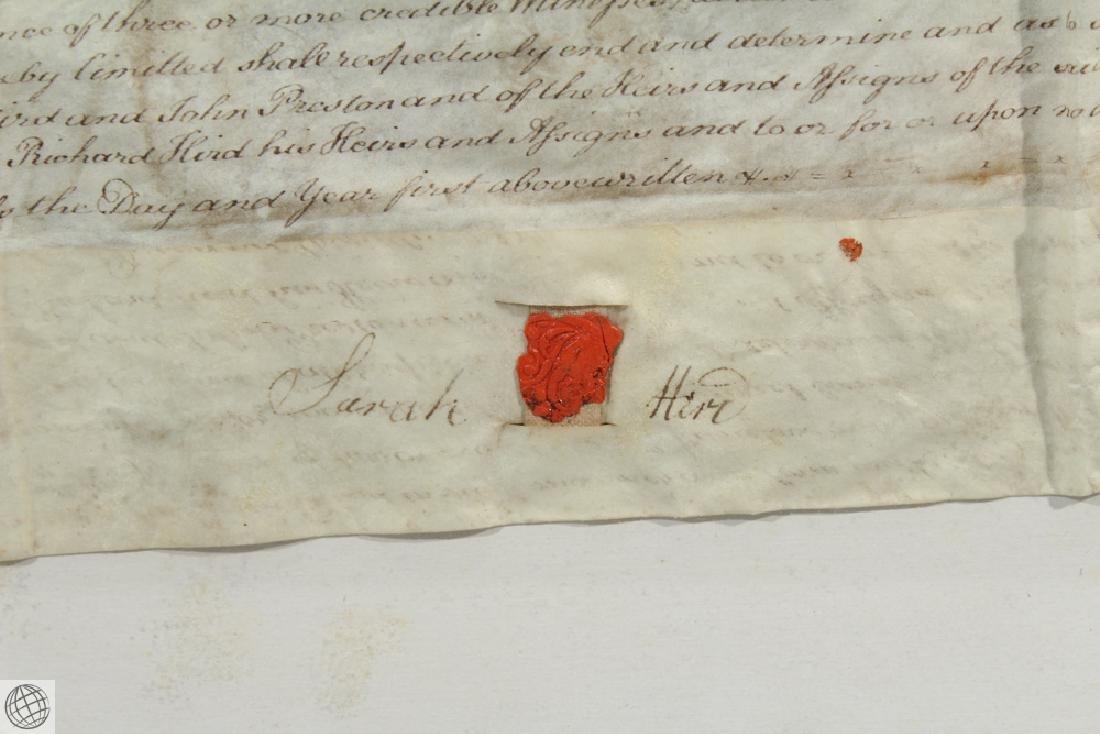 Hand Calligraphed VELLUM INDENTURE 1777 George III - 7