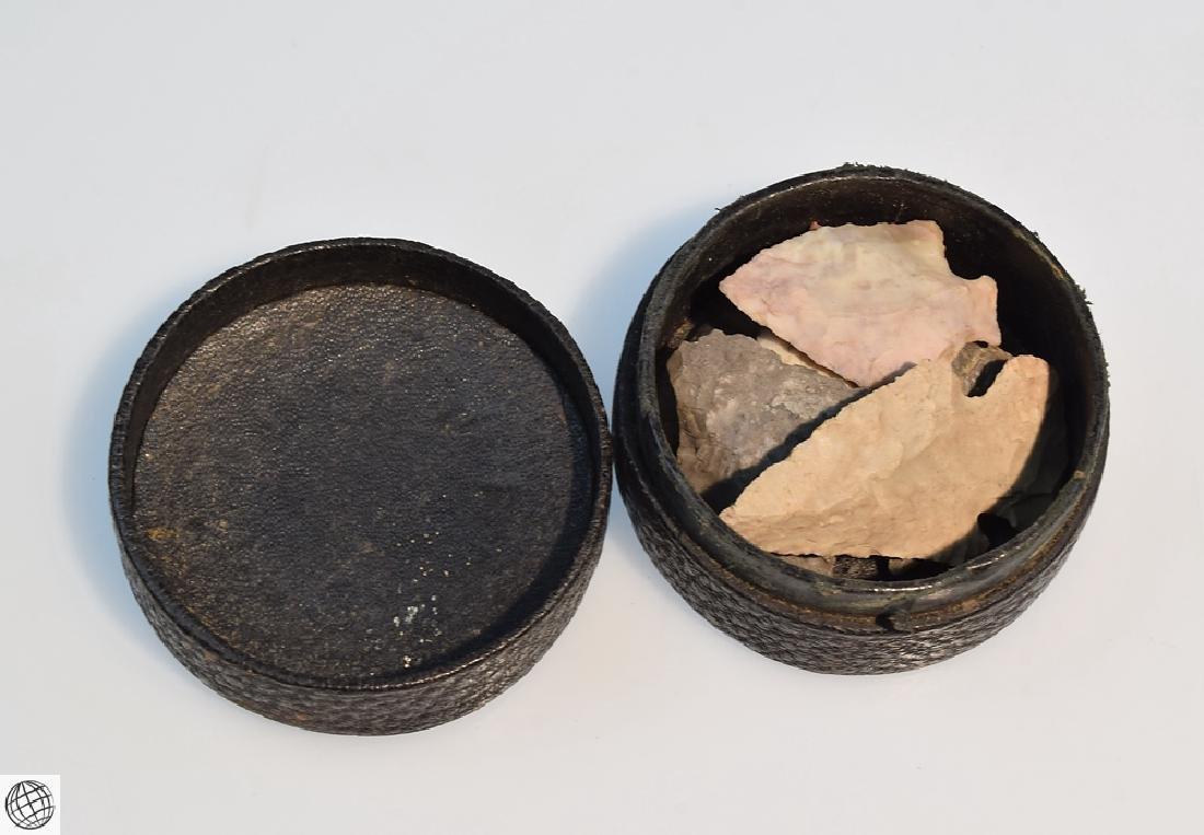 4Pcs Antique IRON AXE HEADS AND FLINT ARROWHEADS Adze - 3
