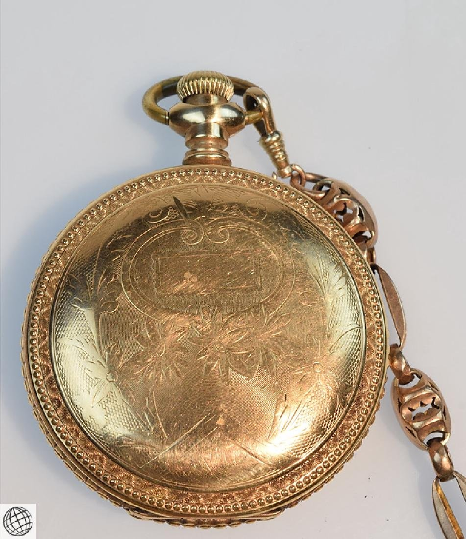 Antique 14k Gold C.1897 ELGIN HUNTER POCKET WATCH WITH - 3
