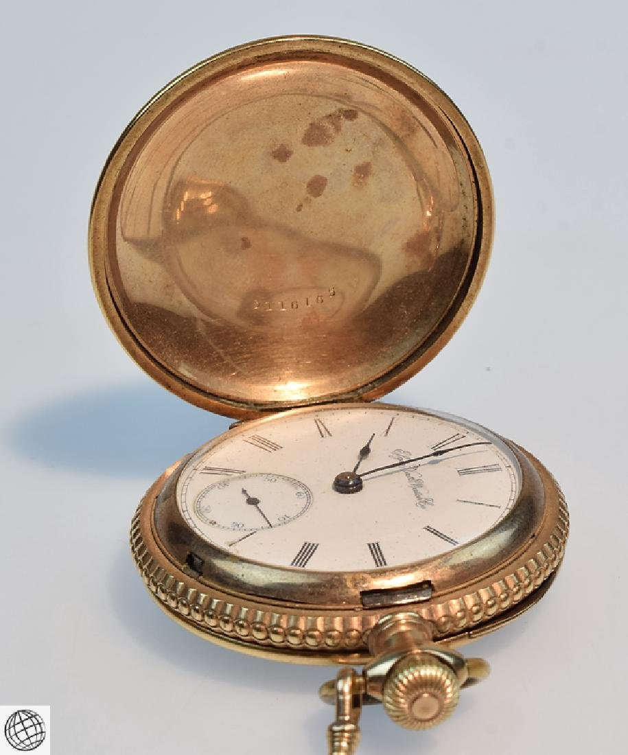 Antique 14k Gold C.1897 ELGIN HUNTER POCKET WATCH WITH - 5