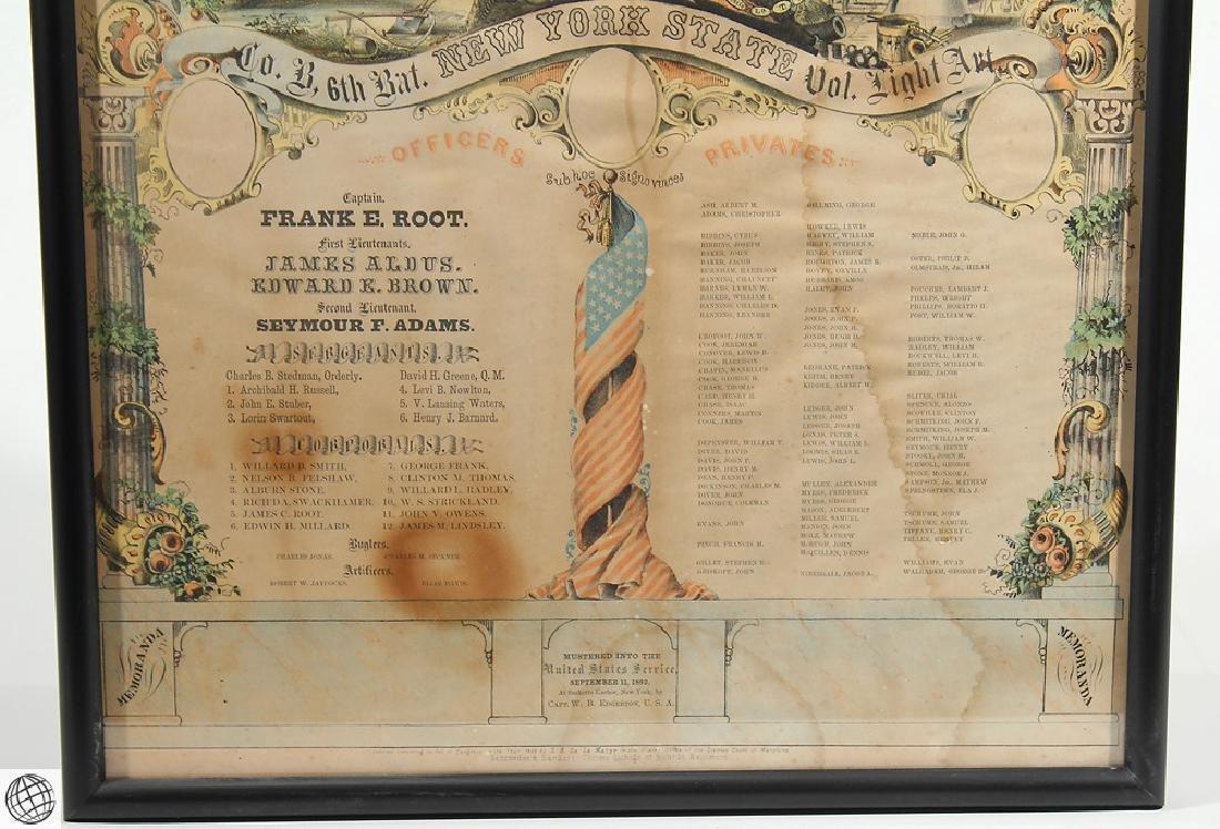 3Pcs Antique Civil War SOLDIERS MEMORIAL Lithographs - 8