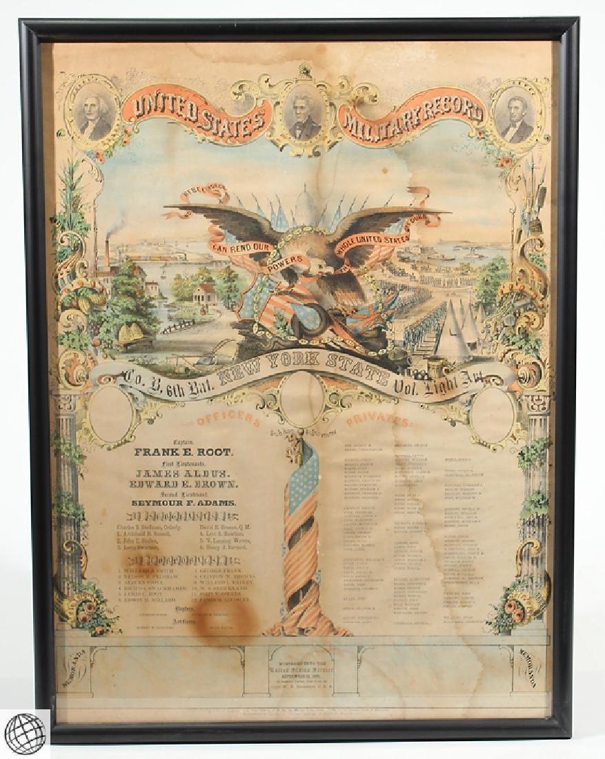 3Pcs Antique Civil War SOLDIERS MEMORIAL Lithographs - 3