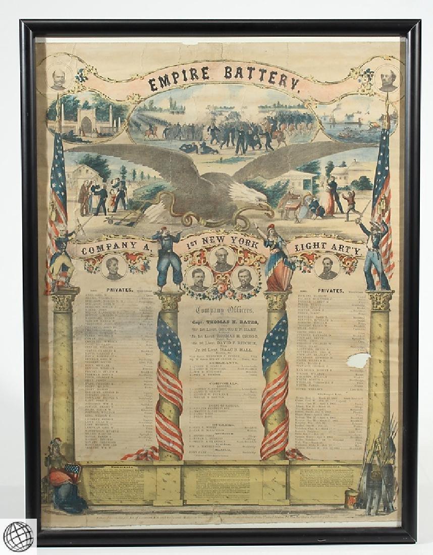 3Pcs Antique Civil War SOLDIERS MEMORIAL Lithographs - 4