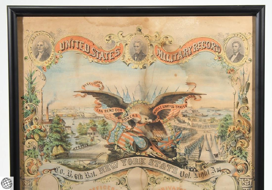 3Pcs Antique Civil War SOLDIERS MEMORIAL Lithographs - 7