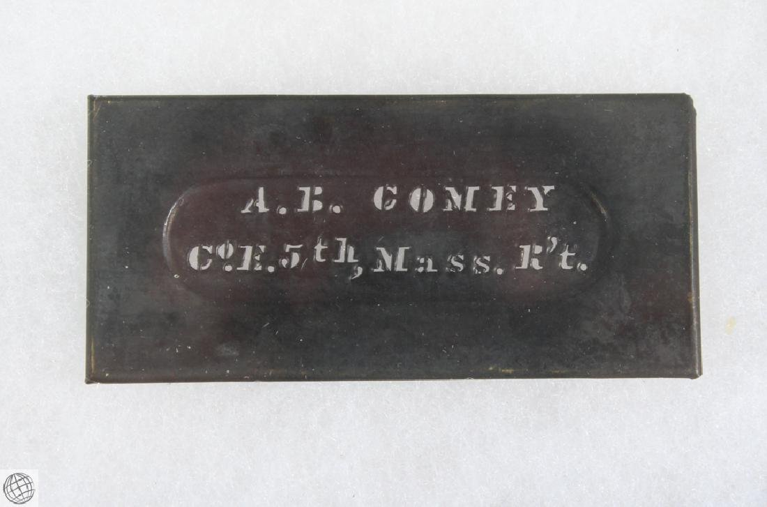 17Pcs Civil War NAME NUMBER STENCILS AND LEATHER WALLET - 4