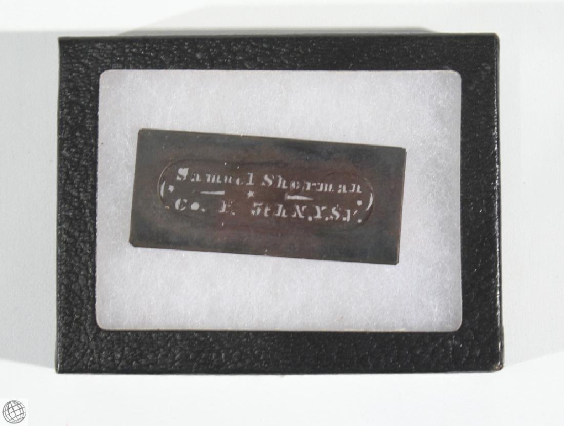17Pcs Civil War NAME NUMBER STENCILS AND LEATHER WALLET - 5