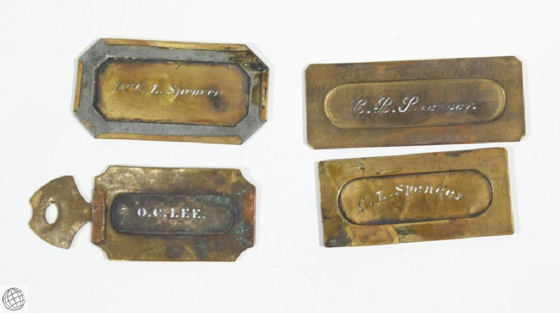 17Pcs Civil War NAME NUMBER STENCILS AND LEATHER WALLET - 7