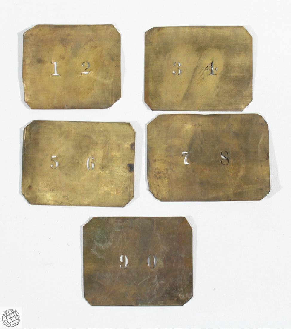 17Pcs Civil War NAME NUMBER STENCILS AND LEATHER WALLET - 9