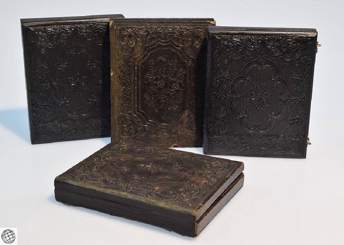 4Pcs Antique 19th Century UNION CASES WITH SOLDIER