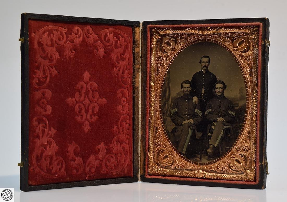 4Pcs Antique 19th Century UNION CASES WITH SOLDIER - 2