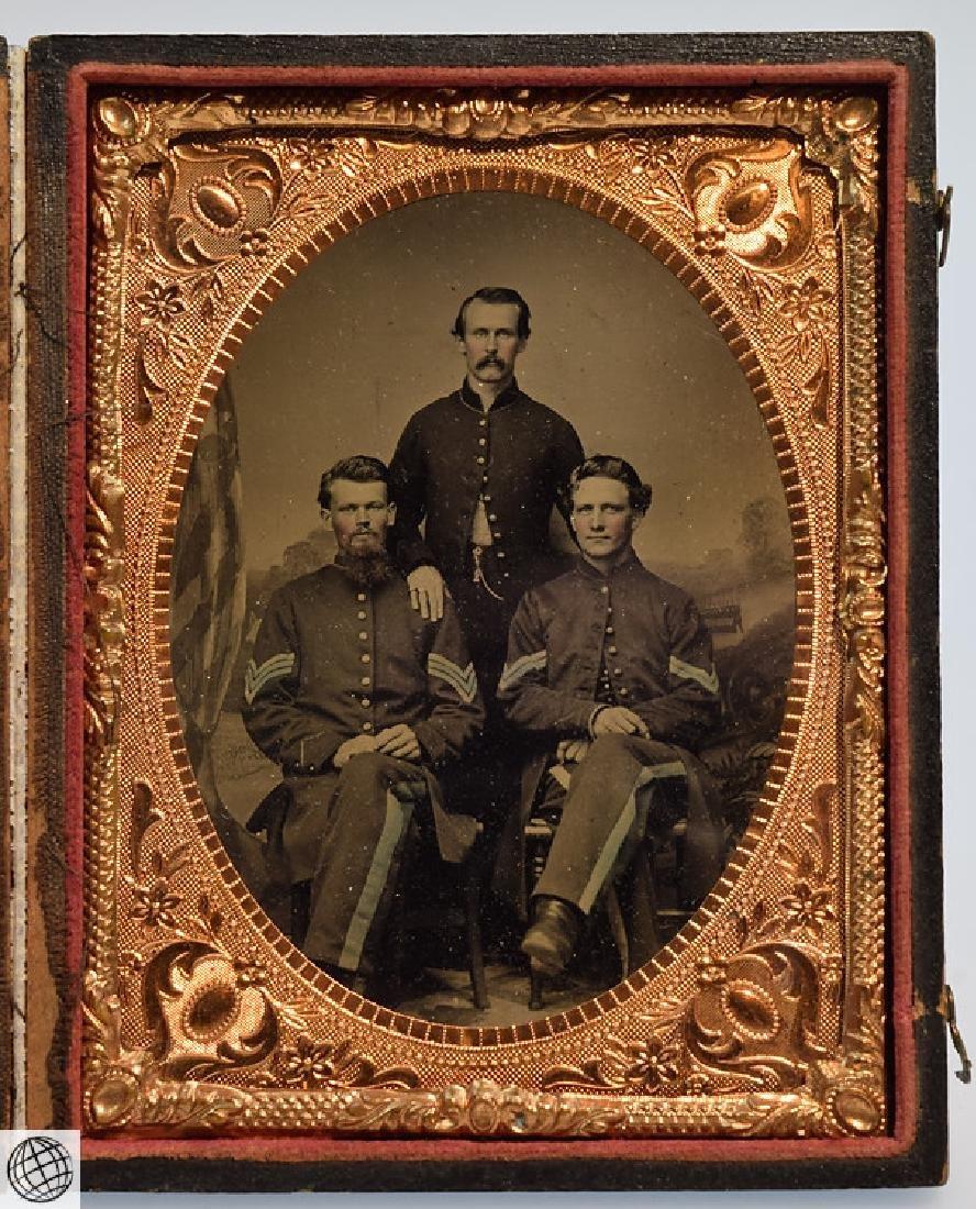4Pcs Antique 19th Century UNION CASES WITH SOLDIER - 3