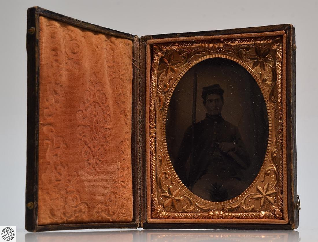4Pcs Antique 19th Century UNION CASES WITH SOLDIER - 4