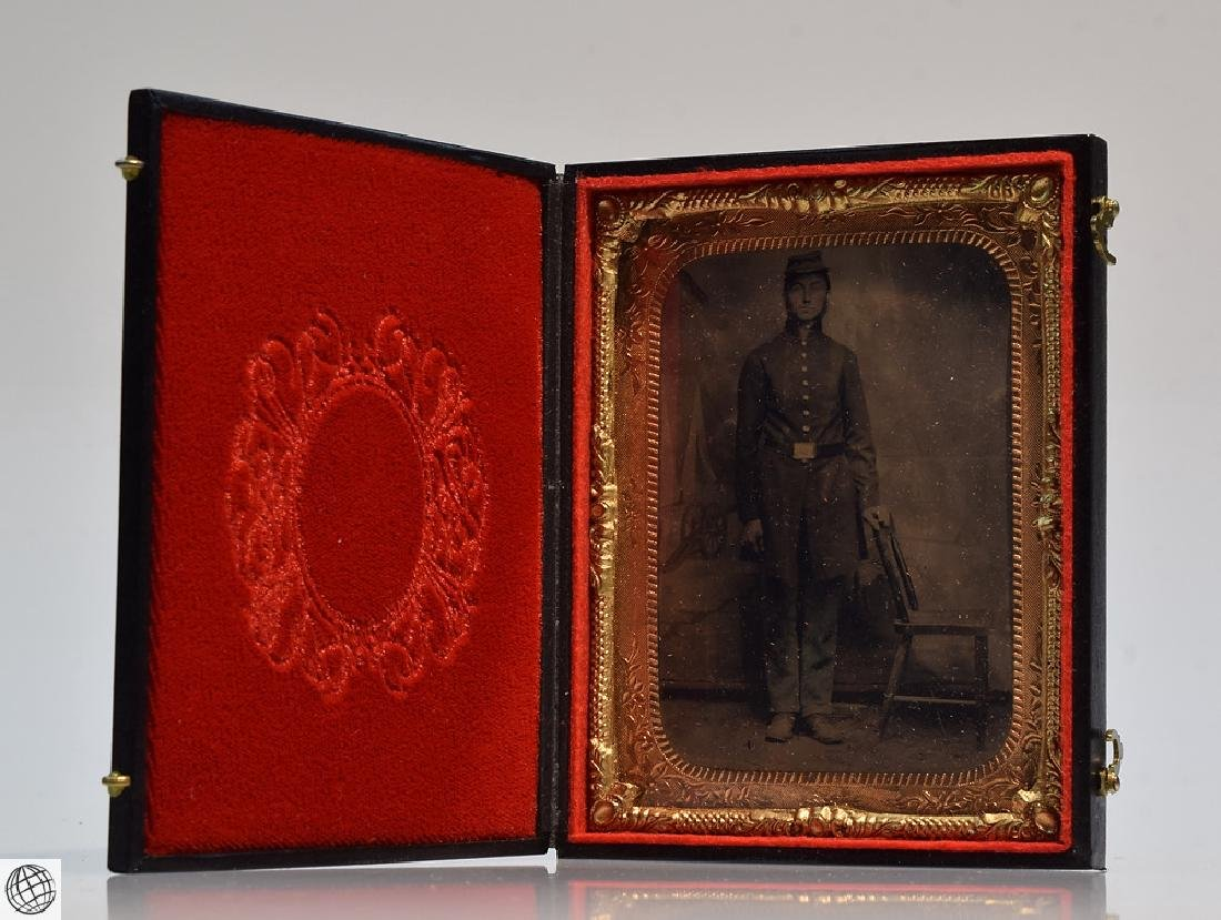 4Pcs Antique 19th Century UNION CASES WITH SOLDIER - 5