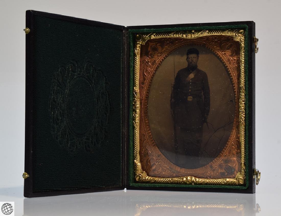 4Pcs Antique 19th Century UNION CASES WITH SOLDIER - 6