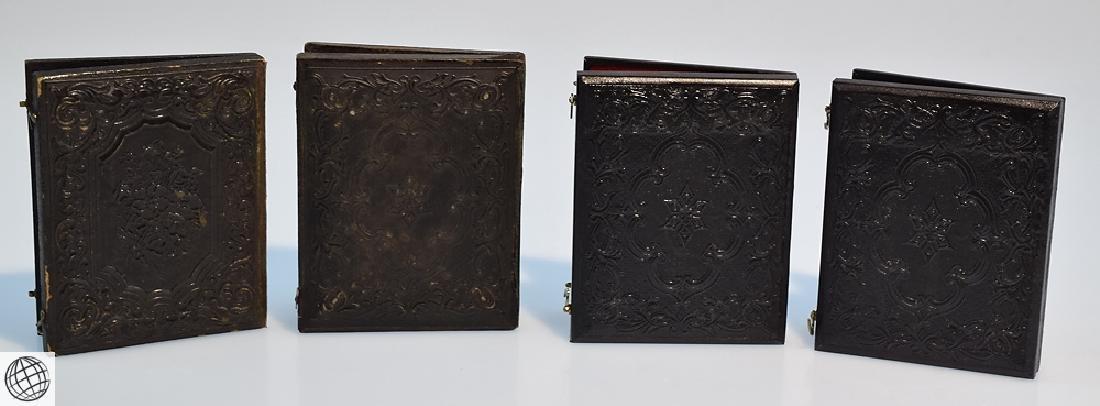 4Pcs Antique 19th Century UNION CASES WITH SOLDIER - 8