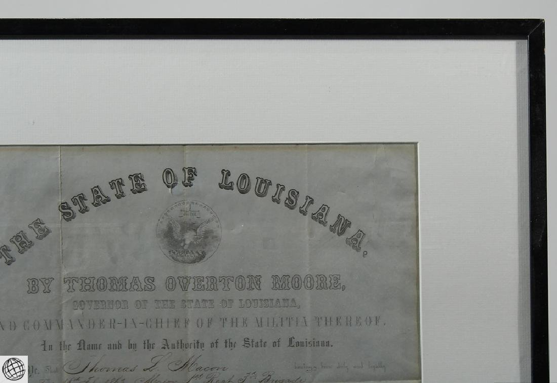 Confederate Civil War Commission SIGNED THOMAS OVERTON - 3