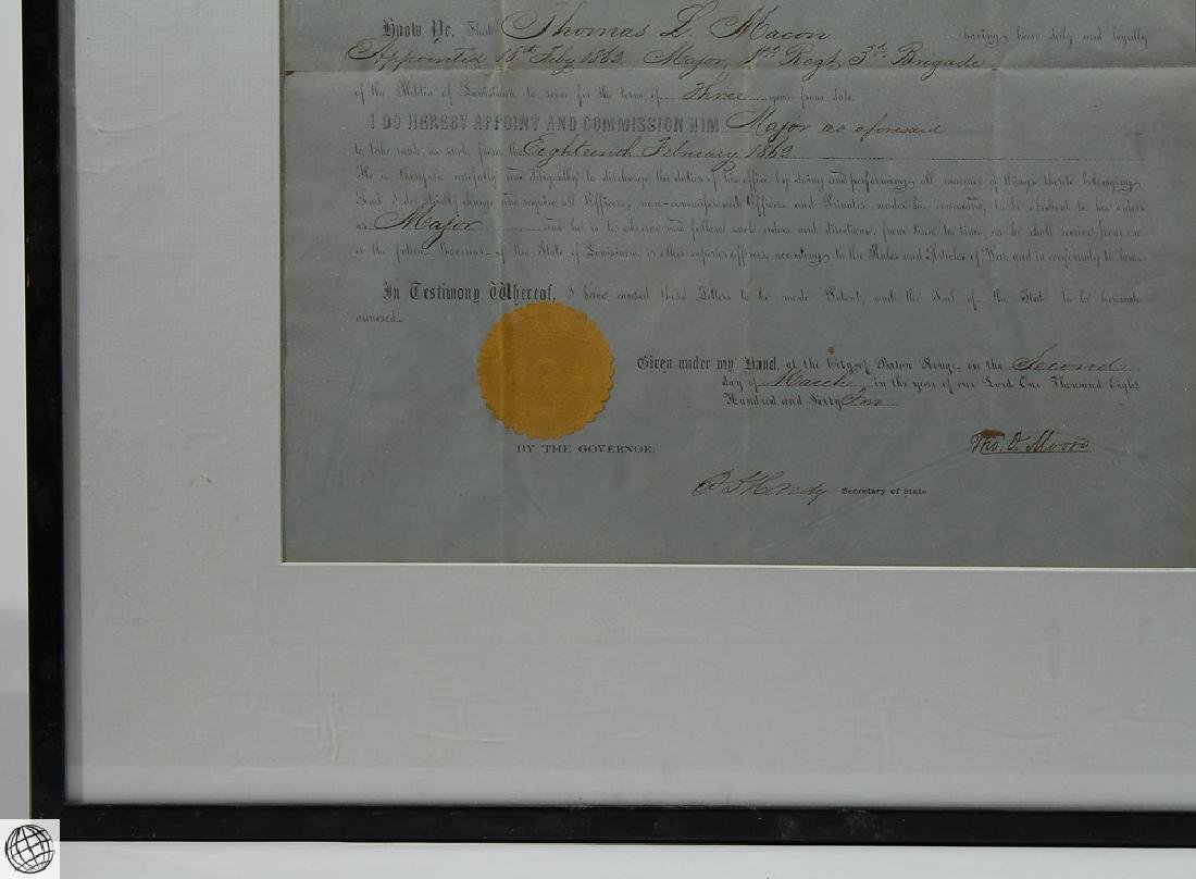 Confederate Civil War Commission SIGNED THOMAS OVERTON - 5