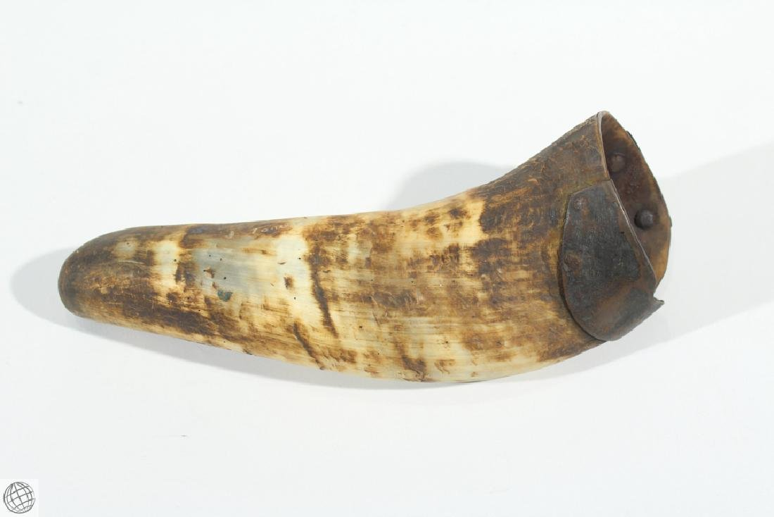 2Pcs Antique 1900s POWDER HORN AND DRINKING HORN Musket - 2