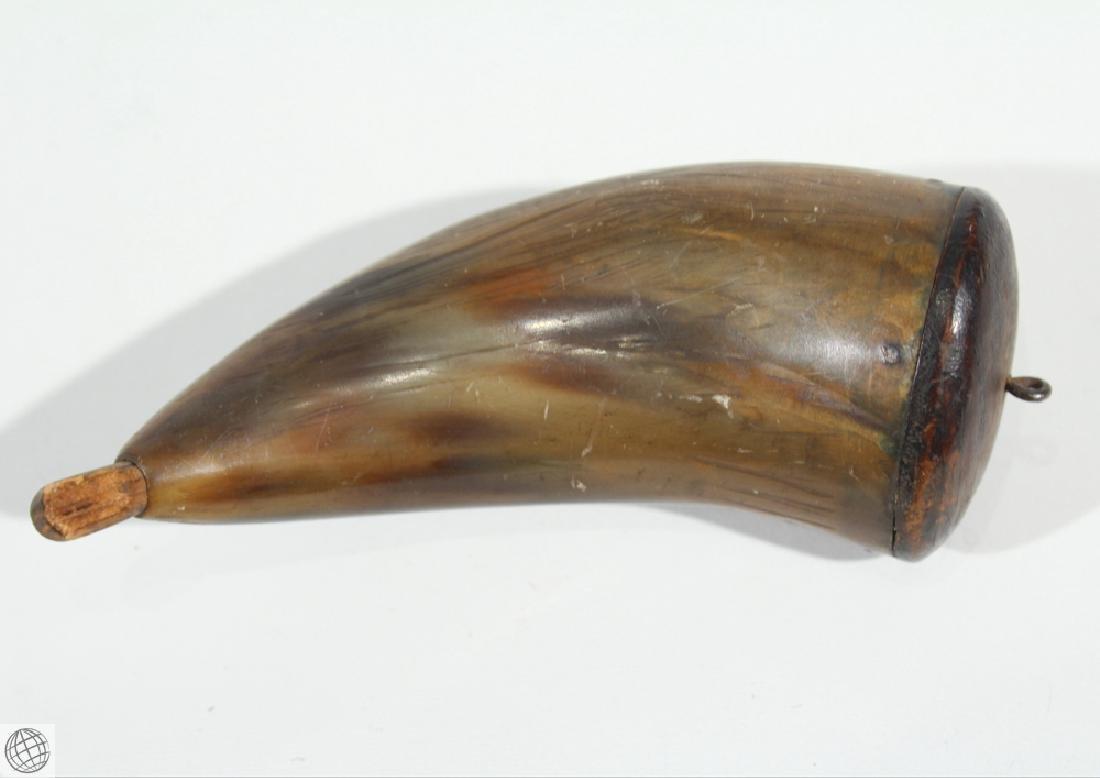 3Pcs Antique 1900s BONE AND WOOD GUNPOWDER HORNS Musket - 10