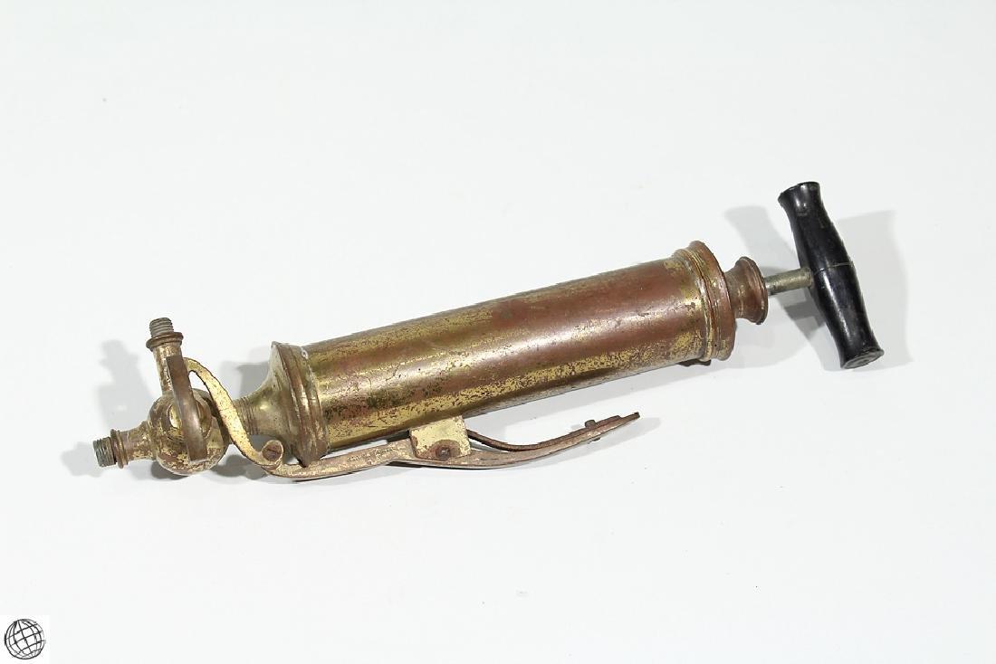 Antique Brass CIVIL WAR ERA MEDICAL PUMP Stomach Enema