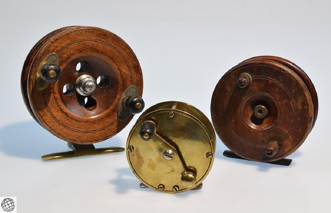 3 Pcs Antique COLLECTIBLE FLY FISHING REELS English