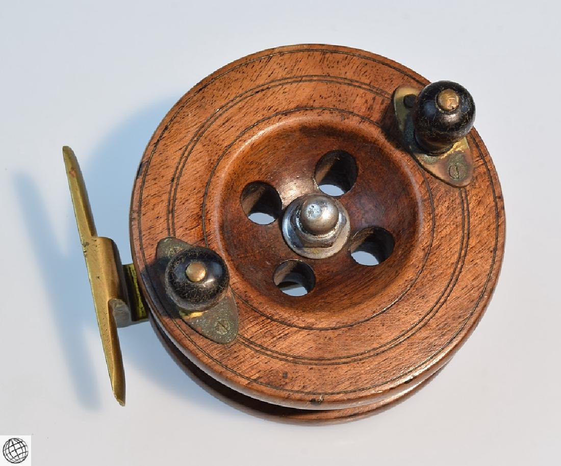 3 Pcs Antique COLLECTIBLE FLY FISHING REELS English - 5