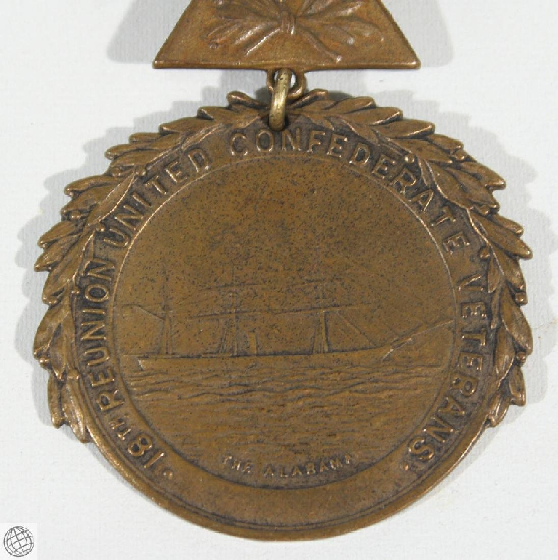 Antique Confederate REUNION MEDAL BADGE 1908 Birmingham - 3