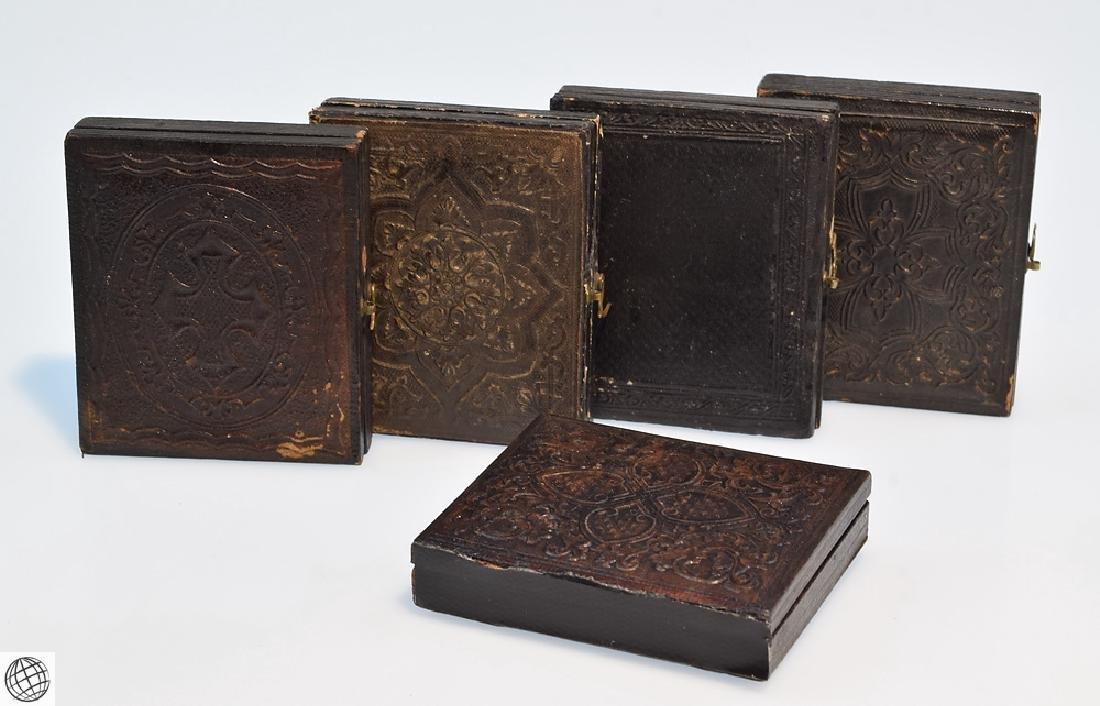 5Pcs Antique 19th Century UNION CASES WITH IMAGE Civil