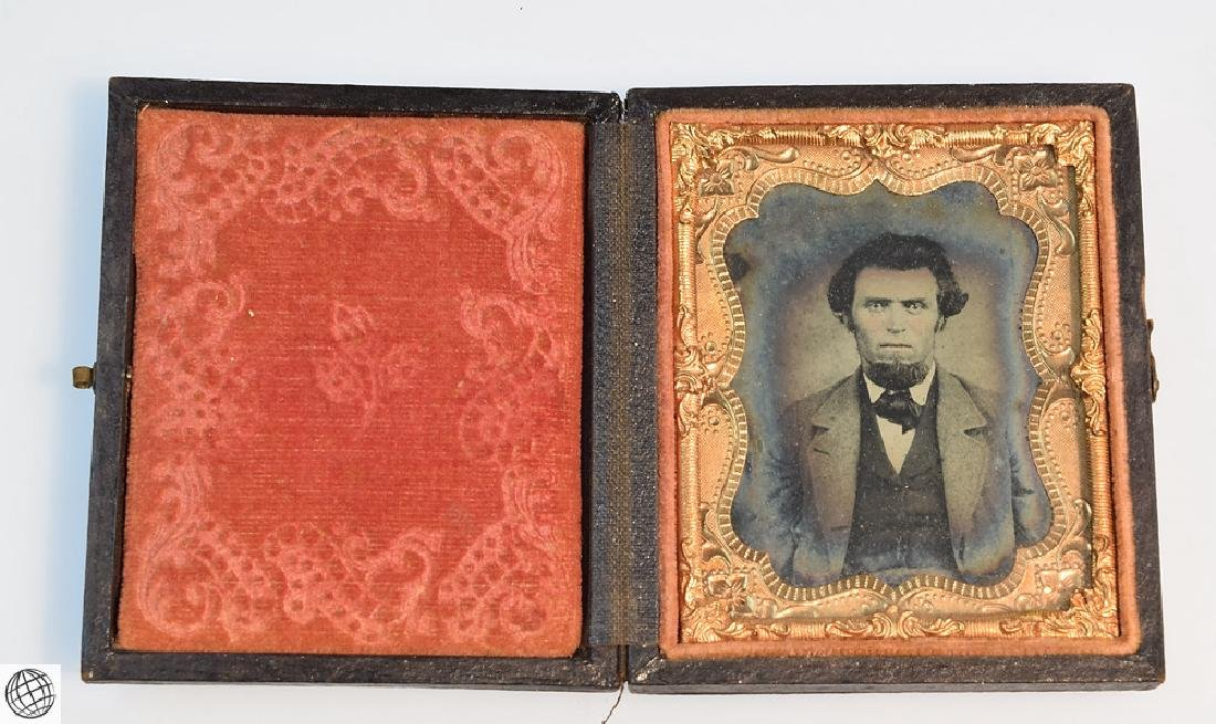 5Pcs Antique 19th Century UNION CASES WITH IMAGE Civil - 3