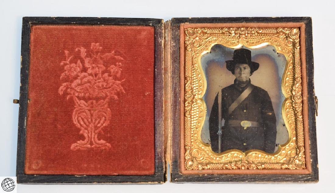 5Pcs Antique 19th Century UNION CASES WITH IMAGE Civil - 4