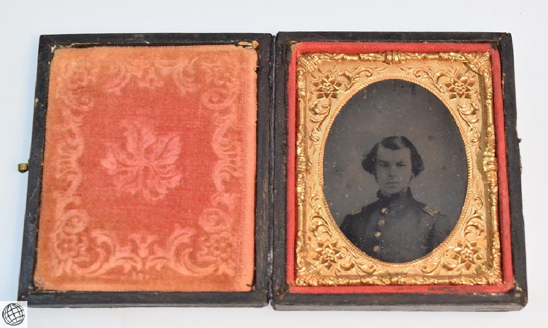 5Pcs Antique 19th Century UNION CASES WITH IMAGE Civil - 5