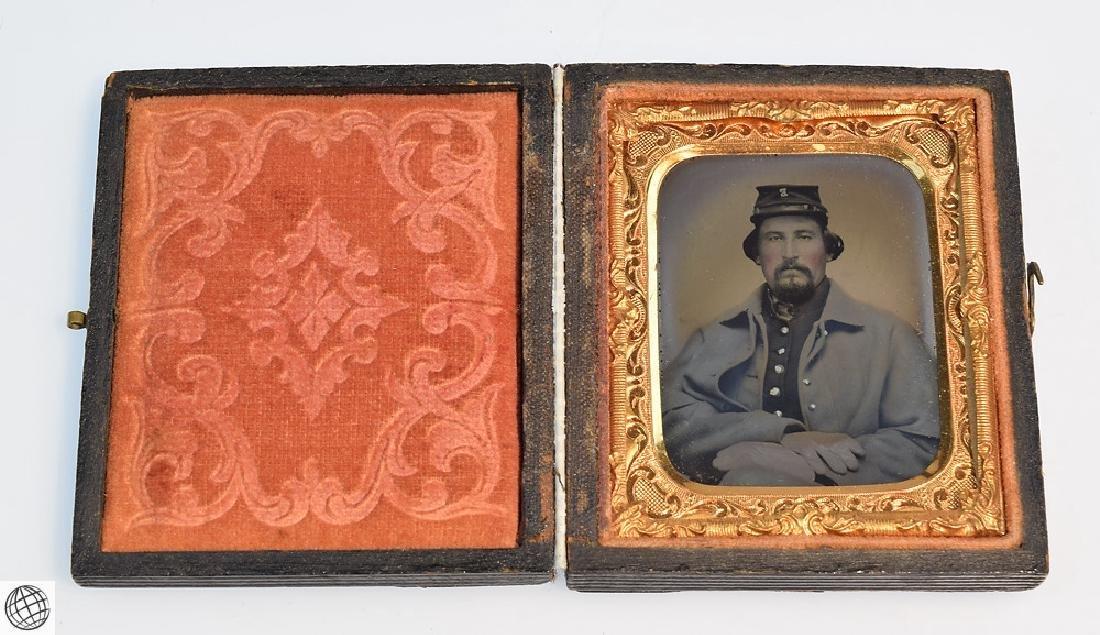 5Pcs Antique 19th Century UNION CASES WITH IMAGE Civil - 6