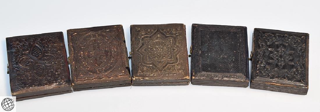 5Pcs Antique 19th Century UNION CASES WITH IMAGE Civil - 7