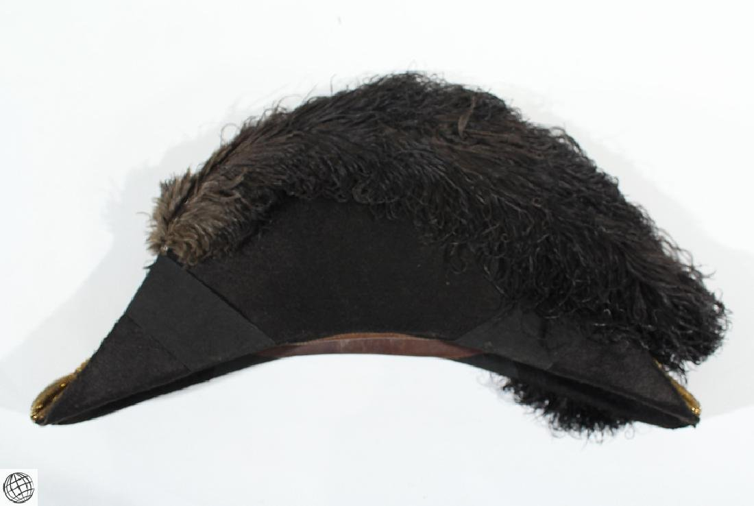 Antique Military Accoutrements BICORNE WITH PLUMES IN - 6