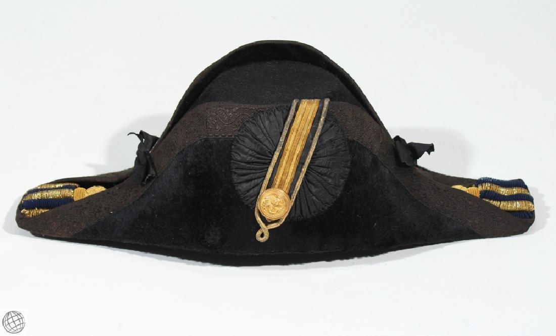 4Pcs Military Formal Dress BICORNE HAT AND EPAULETS c - 2