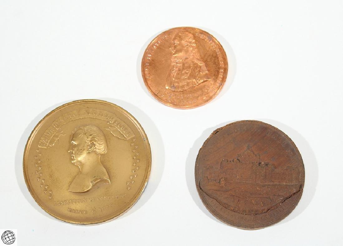 3Pcs Numismatics HISTORICAL MEDALLIONS Major General
