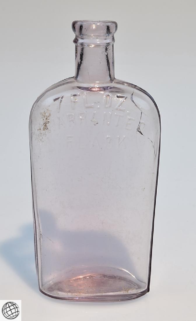 5Pcs Civil War Era 19th Century ANTIQUE GLASS FLASKS - 6