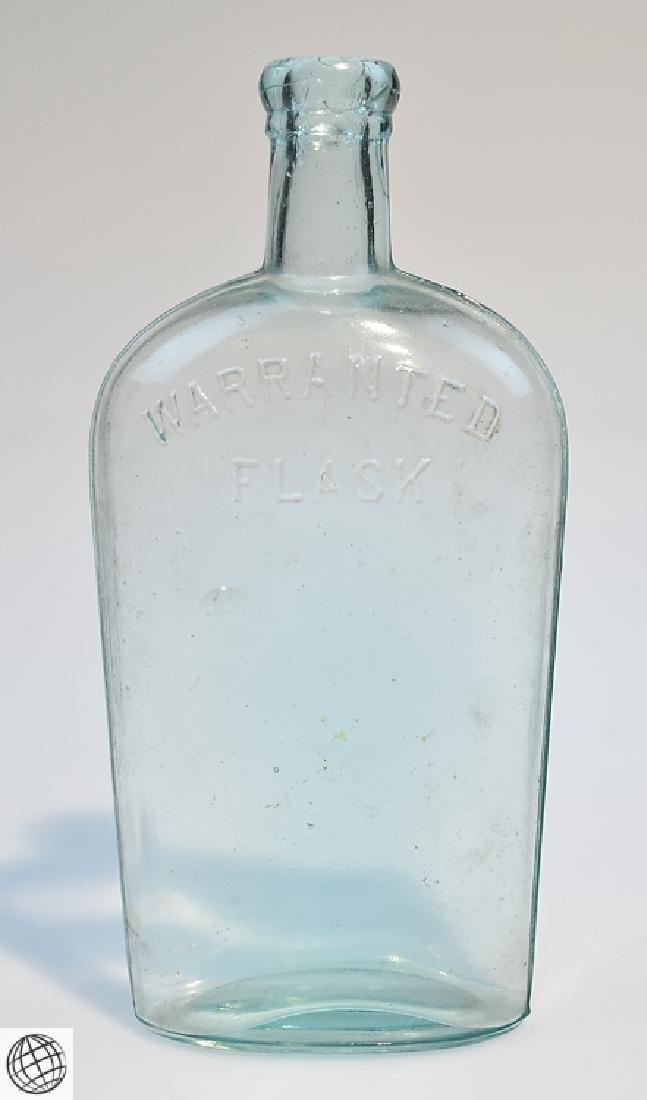 5Pcs Civil War Era 19th Century ANTIQUE GLASS FLASKS - 7