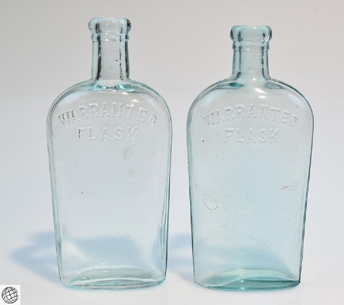 5Pcs Civil War Era 19th Century ANTIQUE GLASS FLASKS - 8