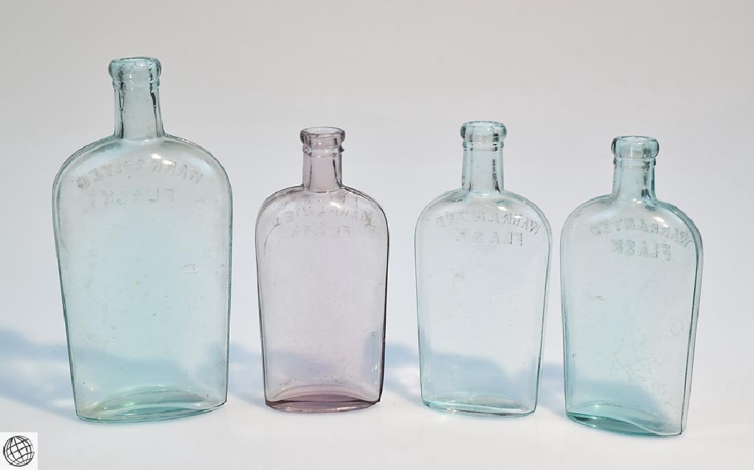5Pcs Civil War Era 19th Century ANTIQUE GLASS FLASKS - 9