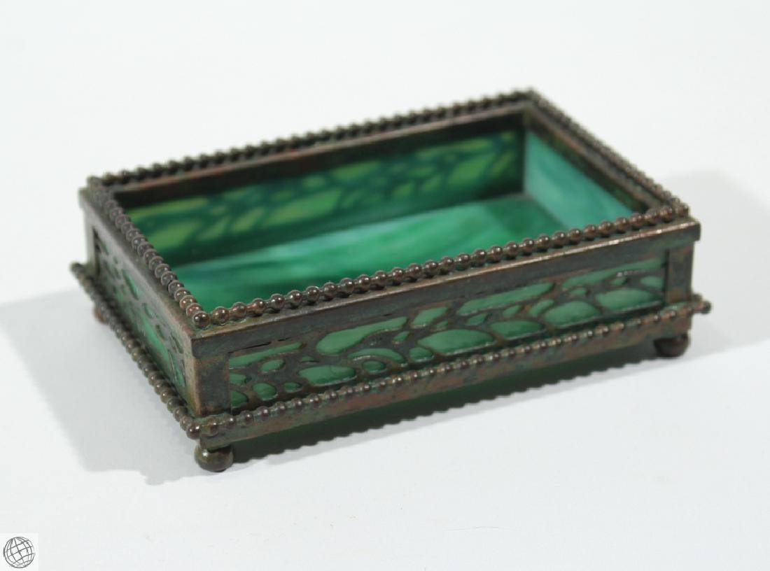 Antique Decorative TIFFANY STUDIOS TRINKET BOX Vine