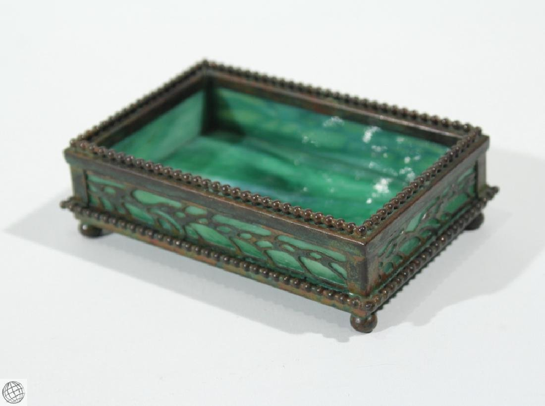 Antique Decorative TIFFANY STUDIOS TRINKET BOX Vine - 2