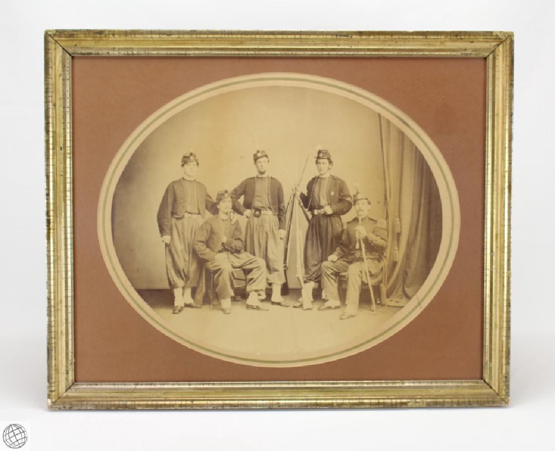 Framed Mounted Albumen CIVIL WAR SOLDIERS IN
