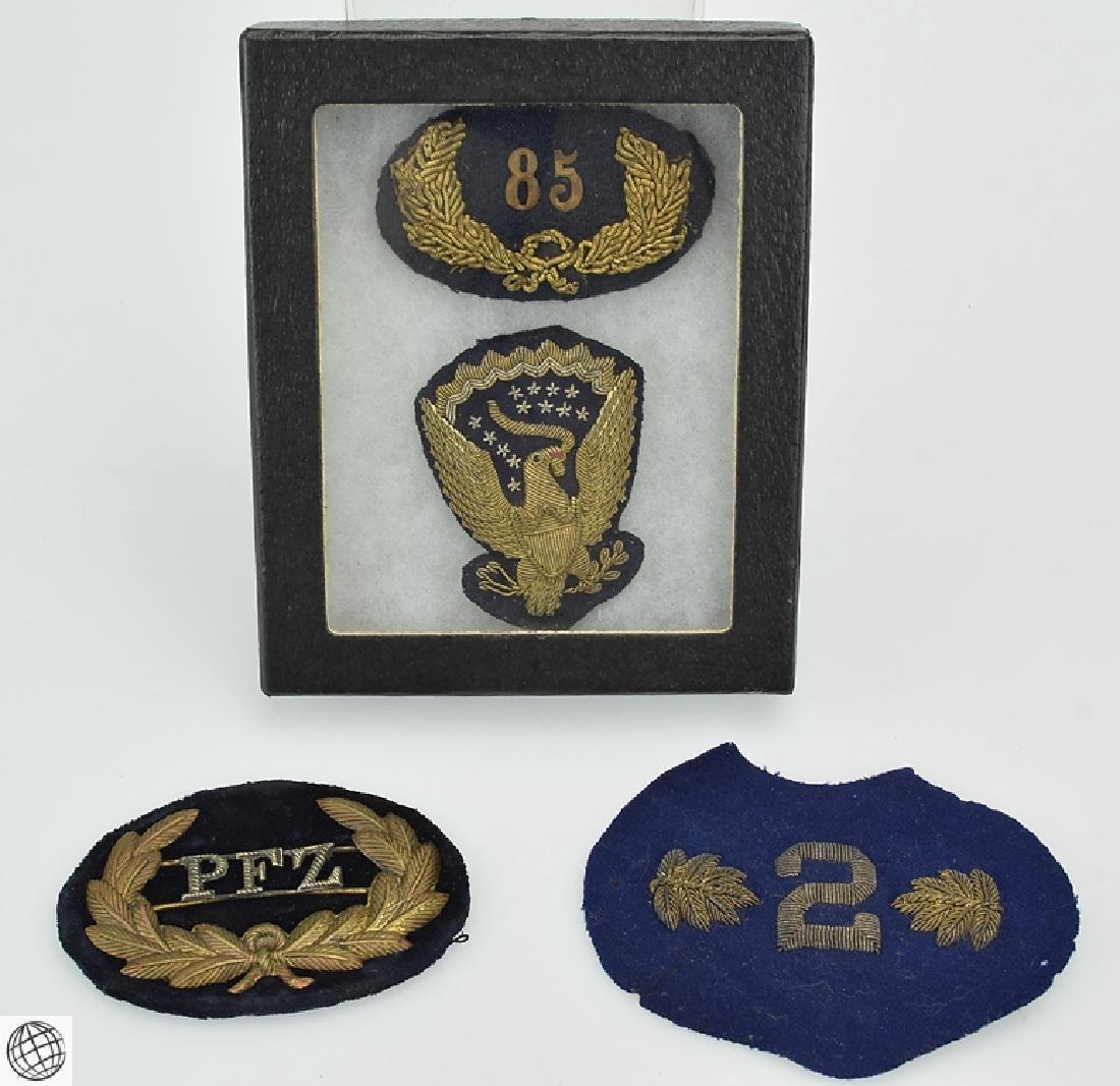 5Pcs Antique US MILITARY REGIMENTAL INSIGNIA c 19th