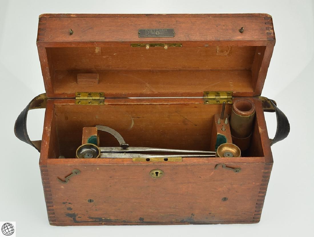 Antique Wooden DIETZGEN SURVEY TRANSIT STORAGE BOX