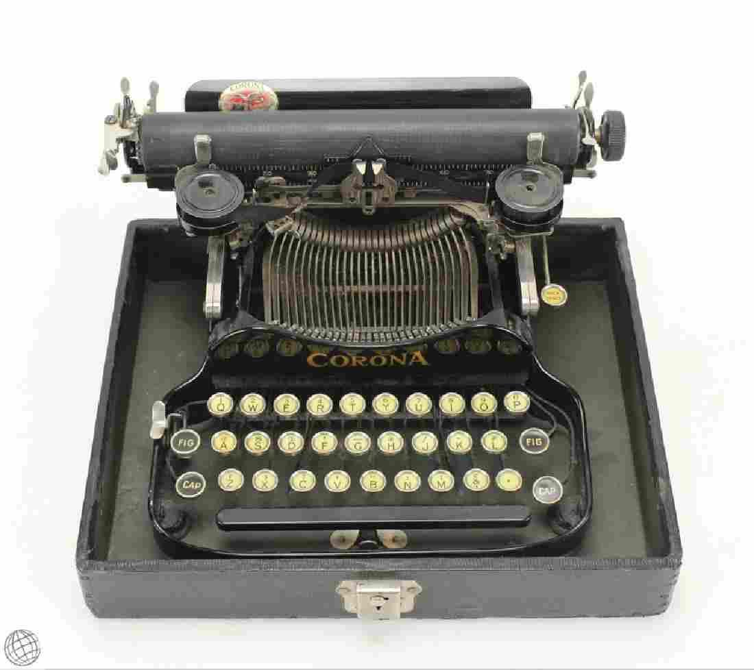 Antique C.1922 CORONA FOLDING PORTABLE TYPEWRITER