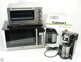 4Pcs Household Appliances MICROWAVE KEURIG TOASTER OVEN