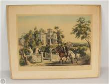 Currier And Ives ORIGINAL HAND COLORED STONE LITHOGRAPH