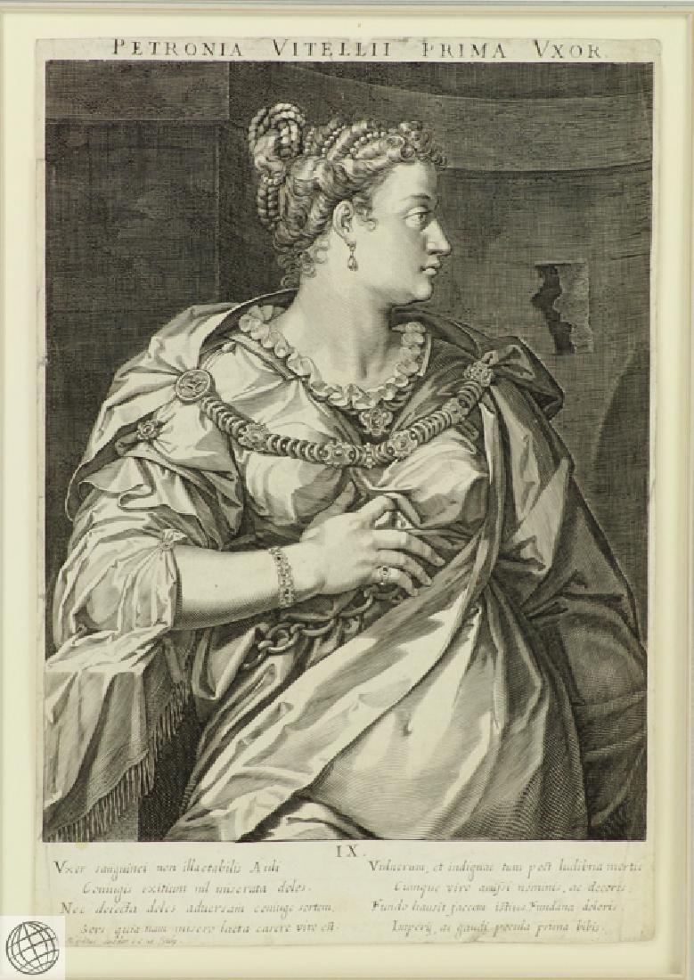 Petronia Wife of Vitellius AEGIDIUS SADELER After Von - 2