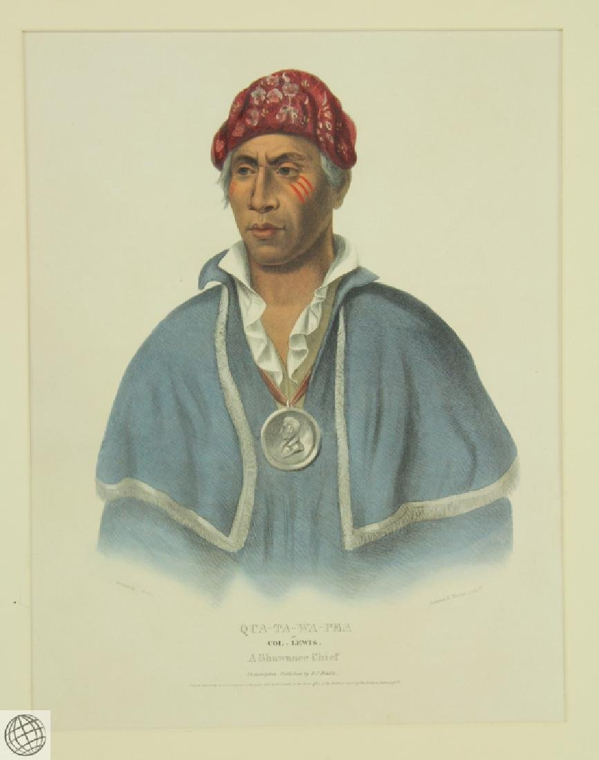 Qua-Ta-Wa-Pea or Colonel Lewis A Shawnnee Chief THOMAS - 2